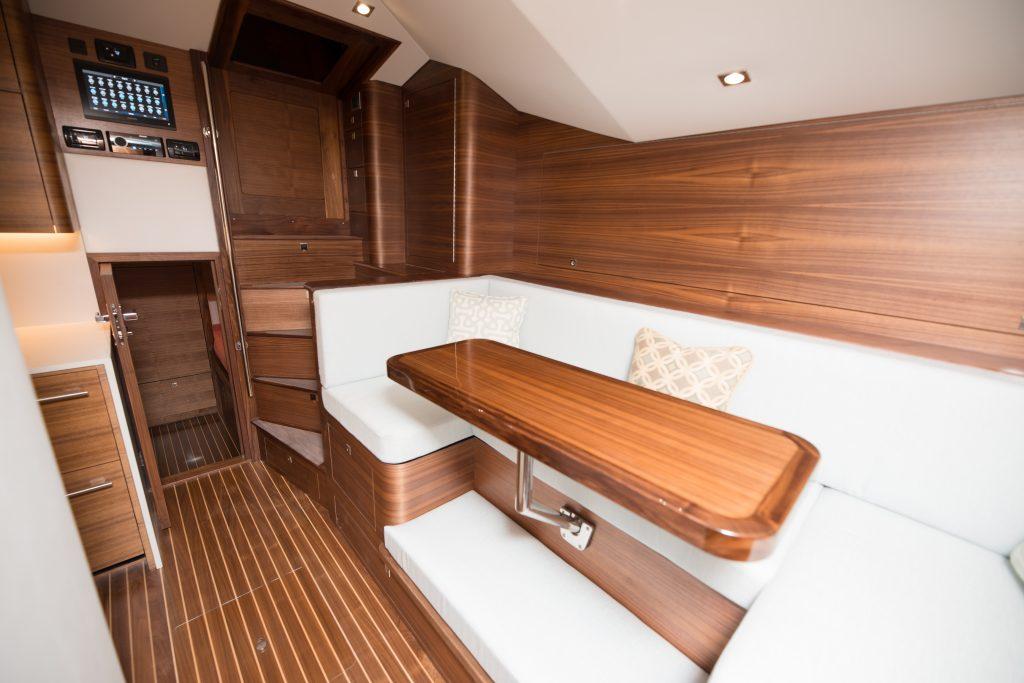 interior of boat