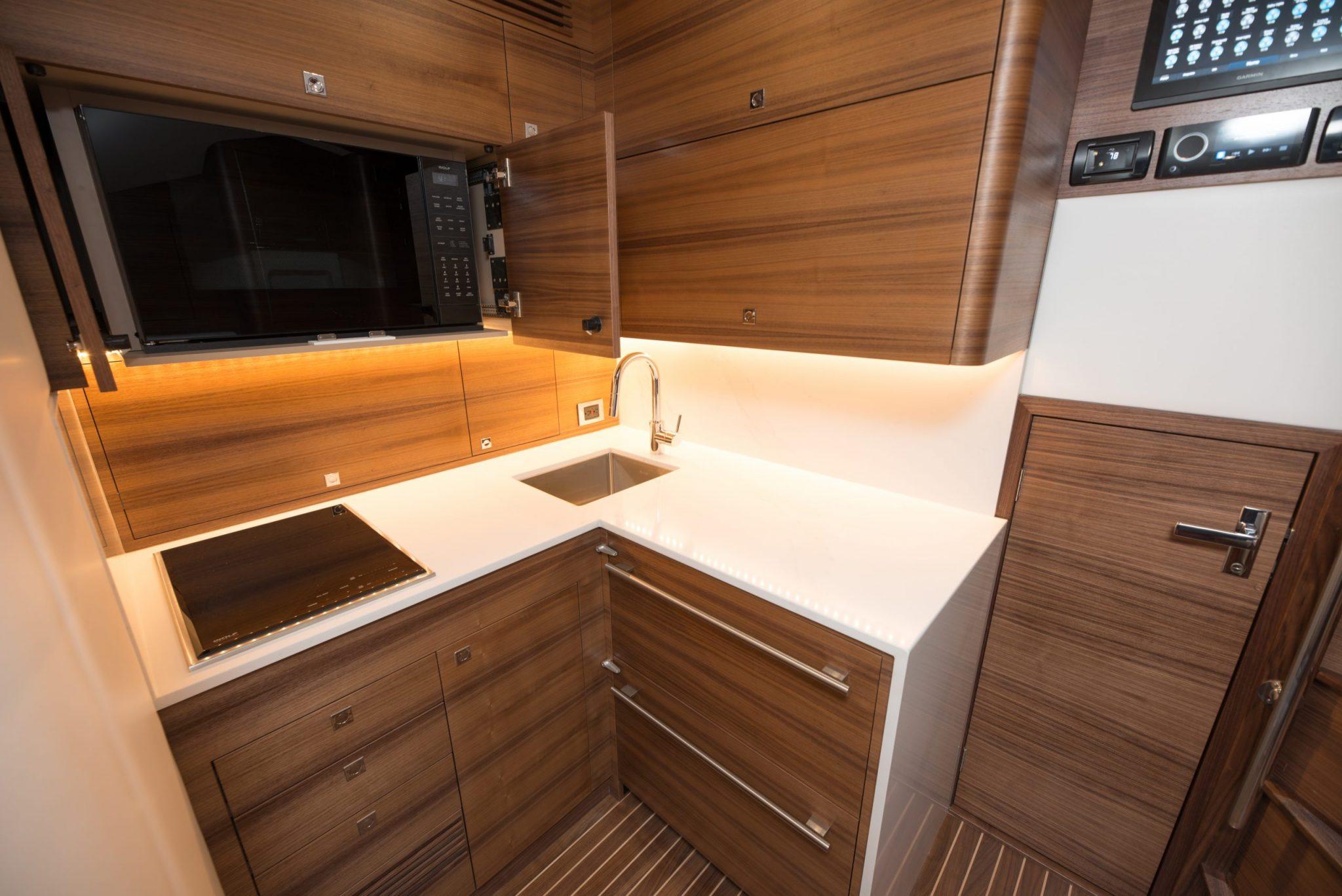 kitchen in boat